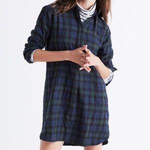 Madewell Plaid Flannel Oversized Shirt Dressed